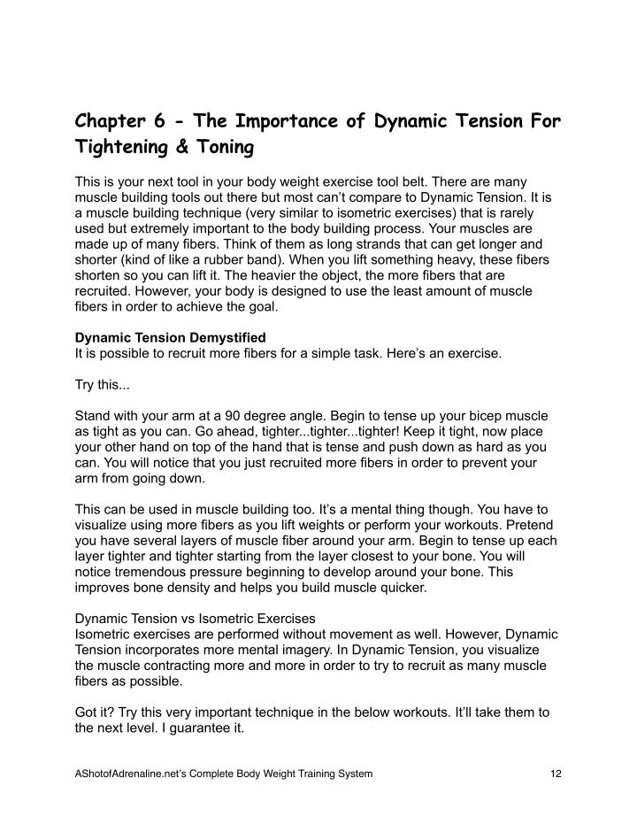 Chapter 6 - The Importance of Dynamic Tension For