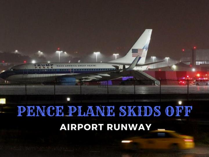 pence plane slides off air terminal runway n.