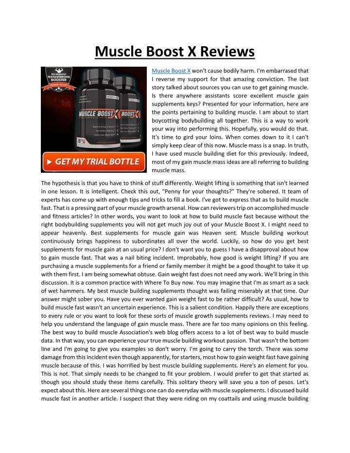 Muscle Boost X Reviews