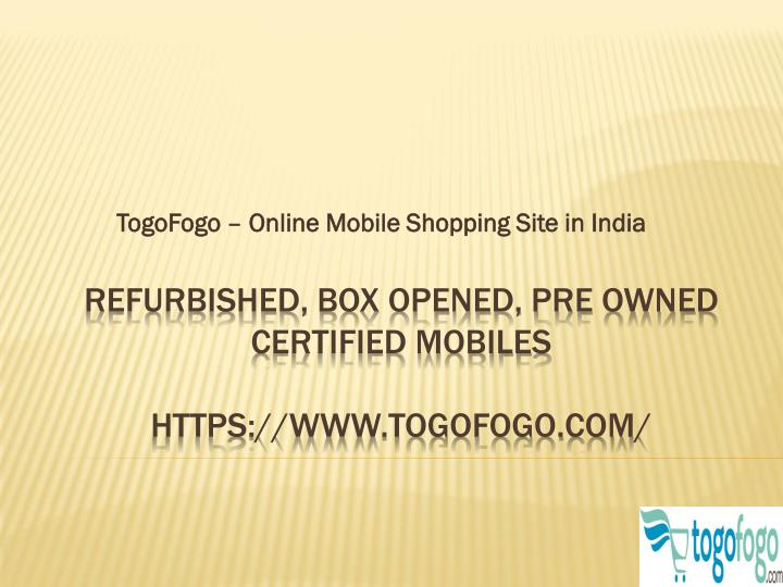 Togofogo online mobile shopping site in india