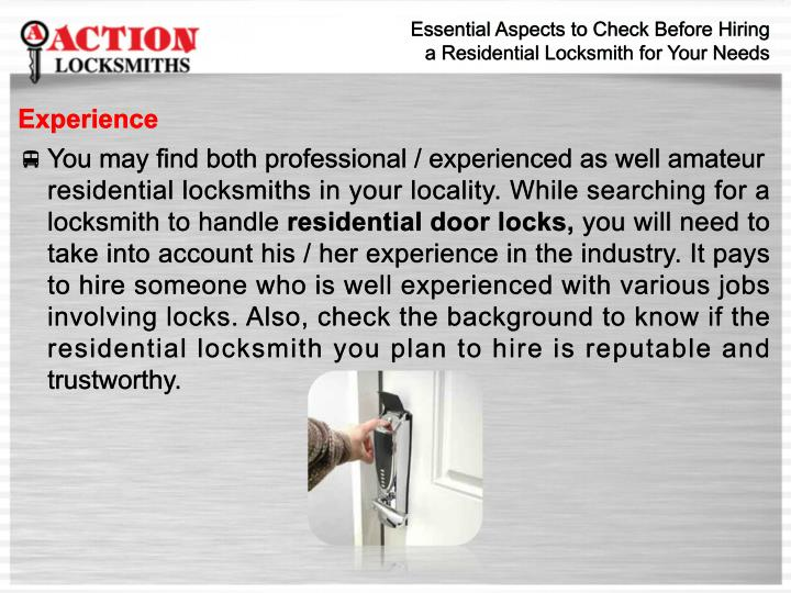 Essential Aspects to Check Before Hiring
