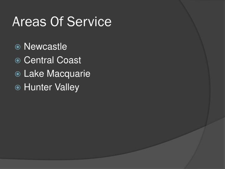Areas Of Service