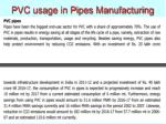 pvc usage in pipes manufacturing