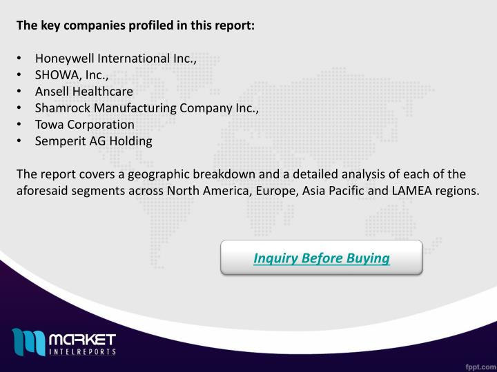 The key companies profiled in this report: