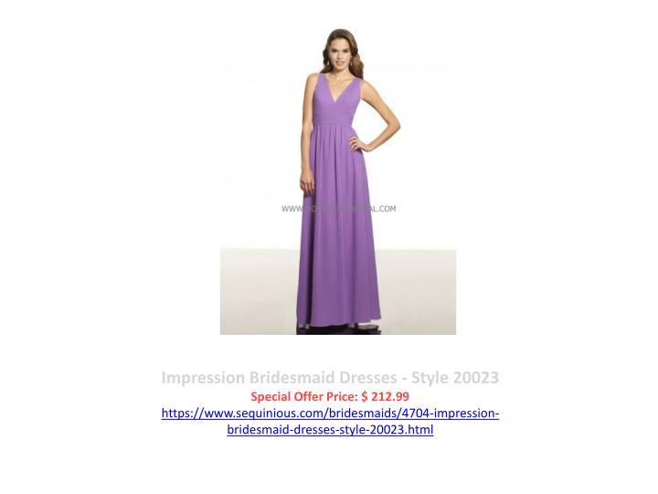 Impression Bridesmaid Dresses - Style 20023