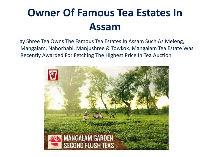 Owner of famous tea estates in assam