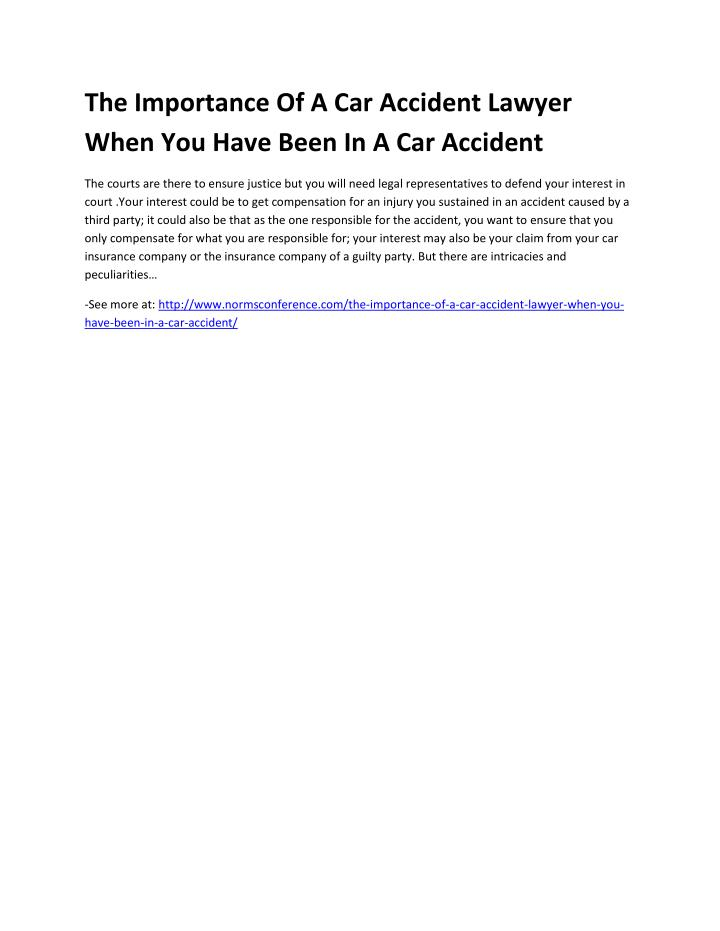 The Importance Of A Car Accident Lawyer