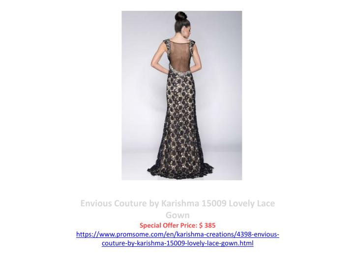 Envious Couture by Karishma 15009 Lovely Lace Gown