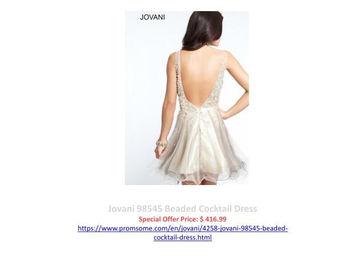Jovani 98545 Beaded Cocktail Dress