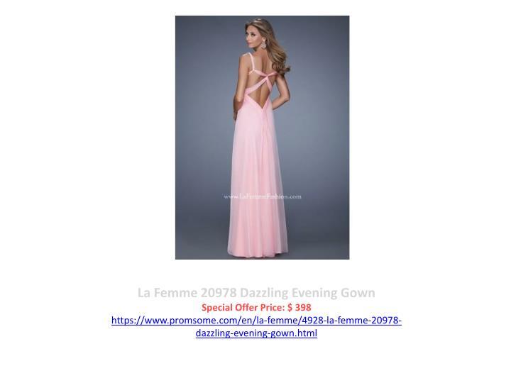 La Femme 20978 Dazzling Evening Gown