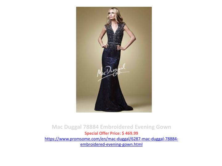 Mac Duggal 78884 Embroidered Evening Gown