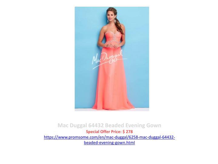 Mac Duggal 64432 Beaded Evening Gown