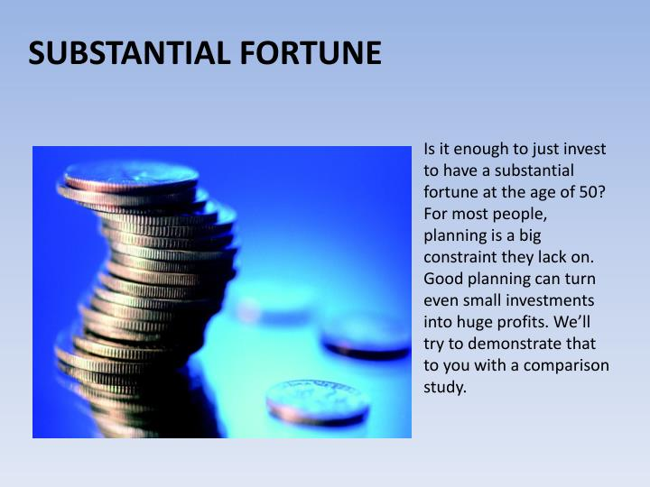 Is it enough to just invest to have a substantial fortune at the age of 50? For most people, planning is a big constraint they lack on. Good planning can turn even small investments into huge profits. We'll try to demonstrate that to you with a comparison study.