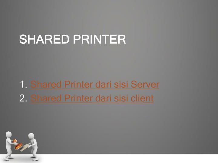 Shared Printer dari sisi Server