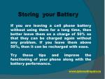 storing your battery