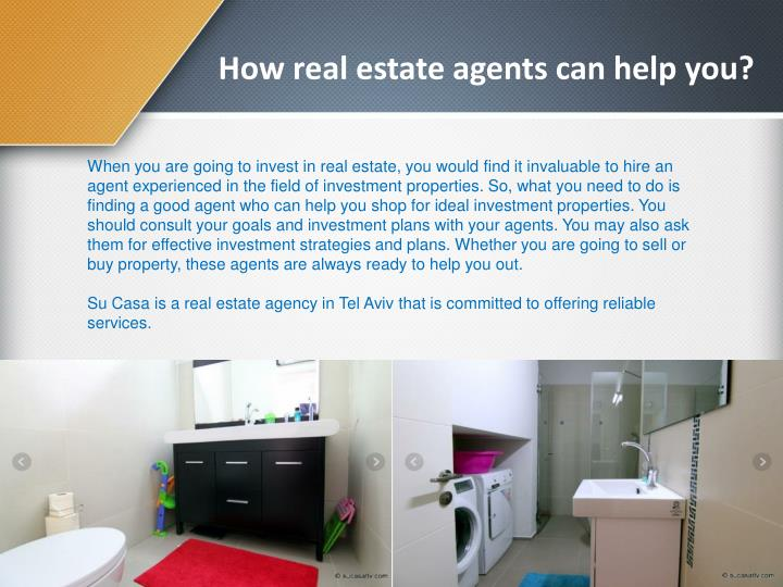 How real estate agents can help you?