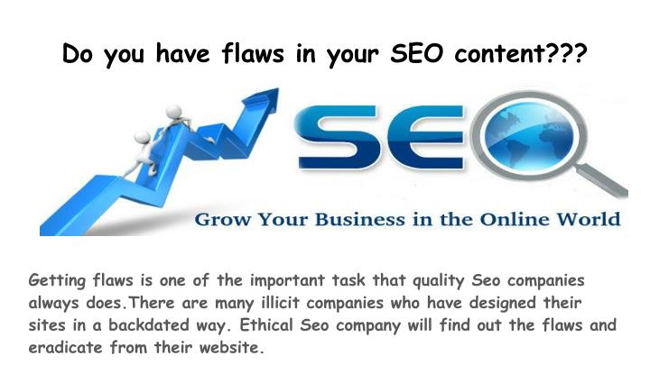 Do you have flaws in your SEO content???
