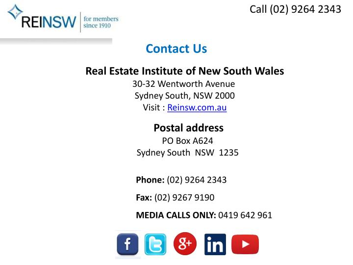 Call (02) 9264 2343
