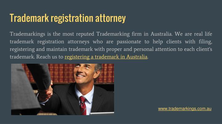 Trademark registration attorney