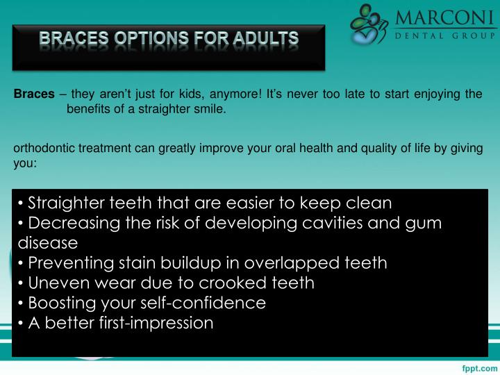 Braces Options for Adults