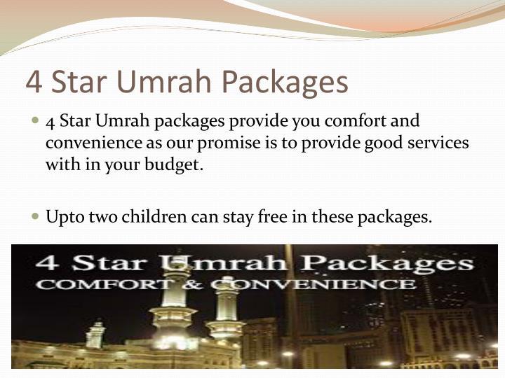 4 star umrah packages