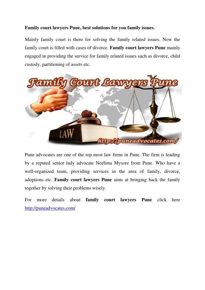 Family court lawyers Pune, best solutions for you family issues.