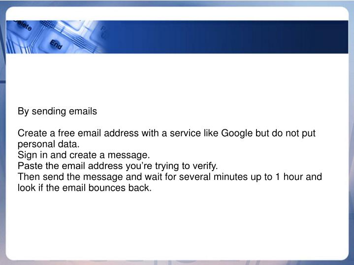 By sending emails