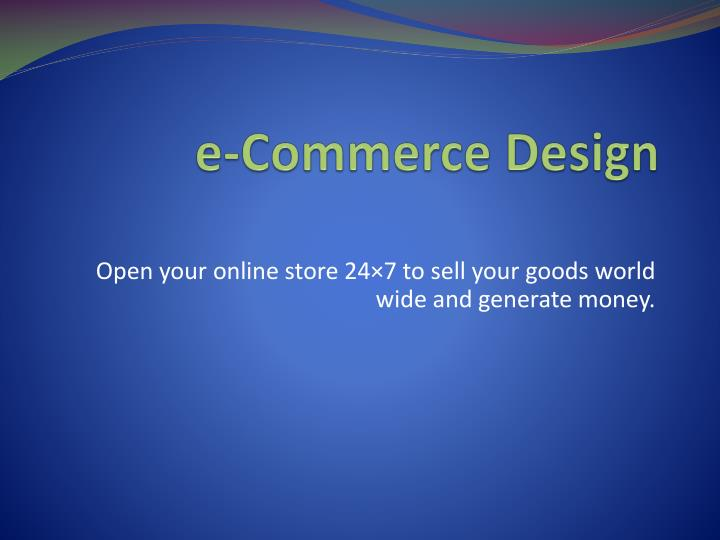e-Commerce Design