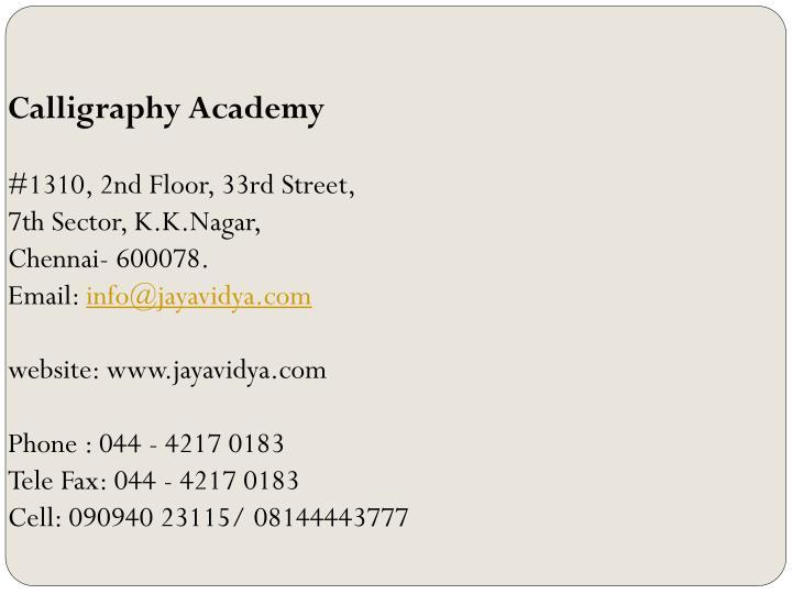 Calligraphy Academy