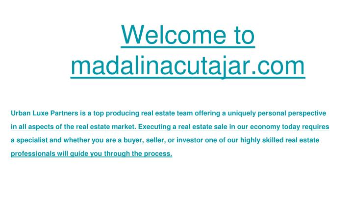 Welcome to madalinacutajar com