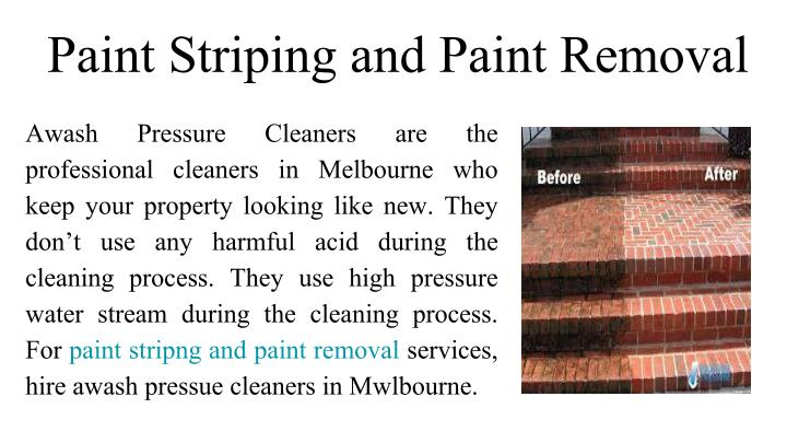 Paint Striping and Paint Removal