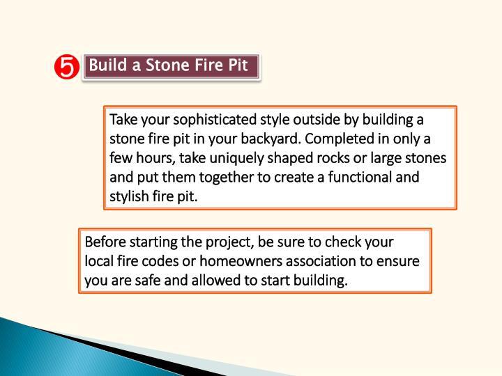 Build a Stone Fire Pit