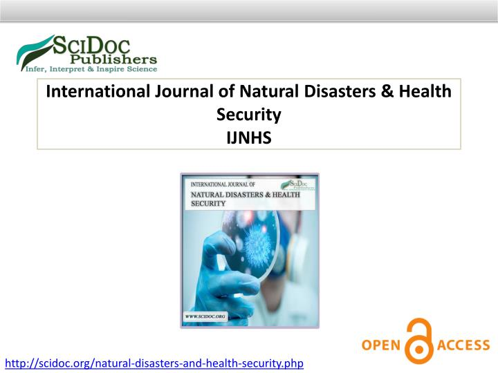 International Journal of Natural Disasters & Health Security
