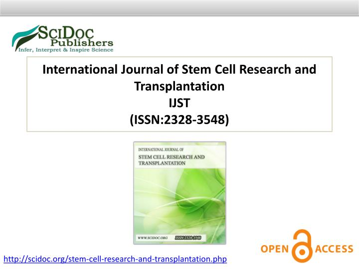 International Journal of Stem Cell Research and Transplantation