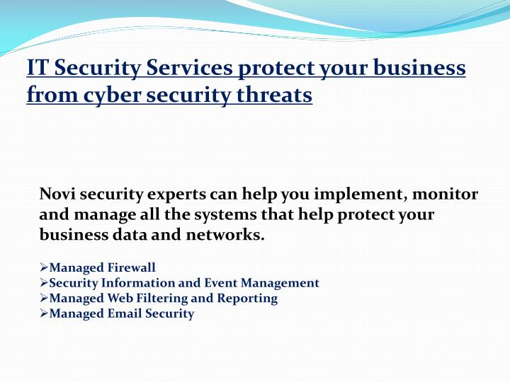IT Security Services protect your business from cyber security threats