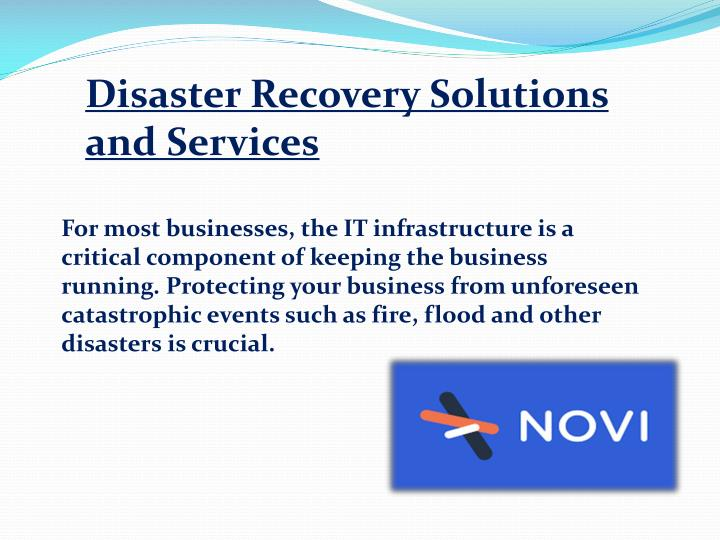 Disaster Recovery Solutions and Services