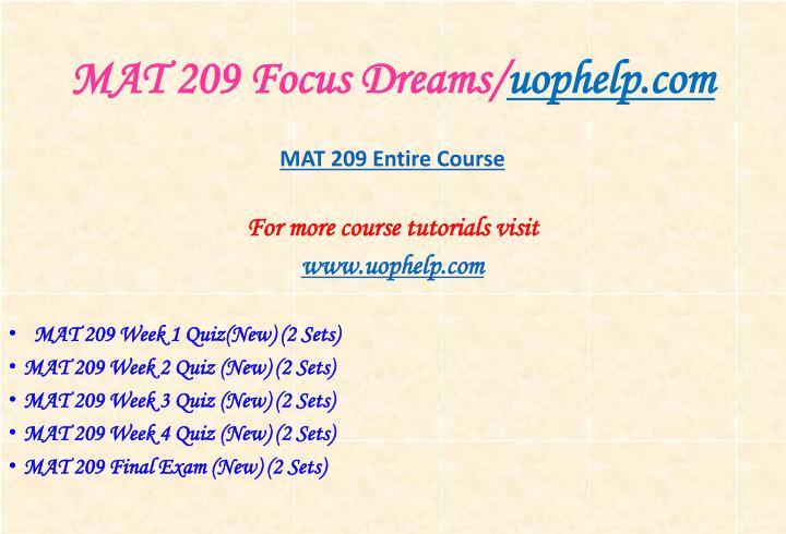 Mat 209 focus dreams uophelp com1