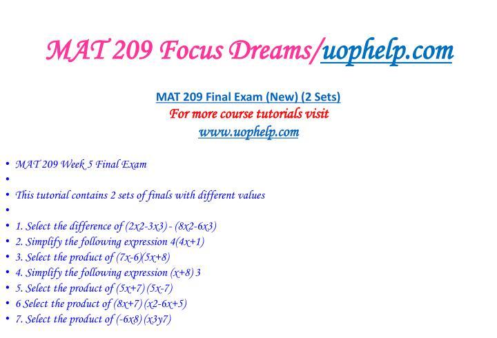 Mat 209 focus dreams uophelp com2