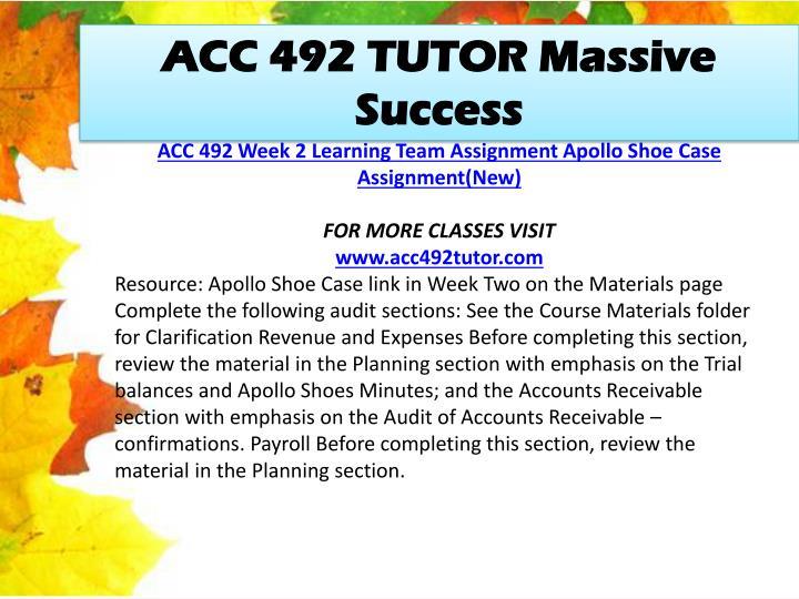 ACC 492 TUTOR Massive Success