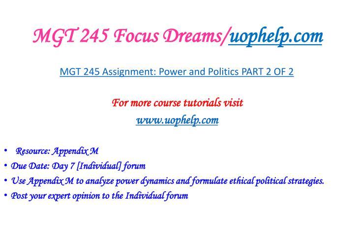 Mgt 245 focus dreams uophelp com2