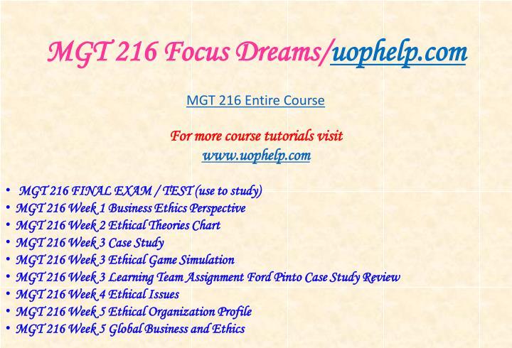 Mgt 216 focus dreams uophelp com1