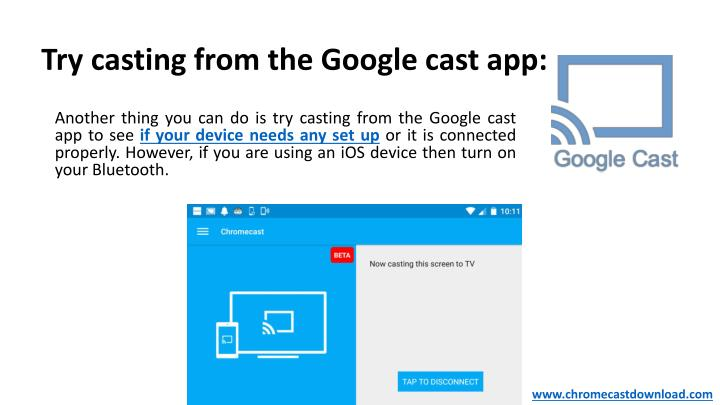 Try casting from the Google cast app: