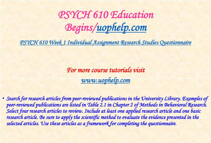 Psych 610 education begins uophelp com2