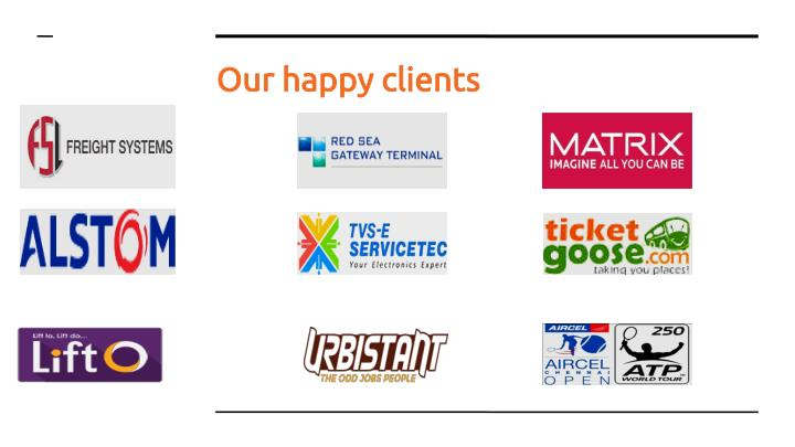 Our happy clients