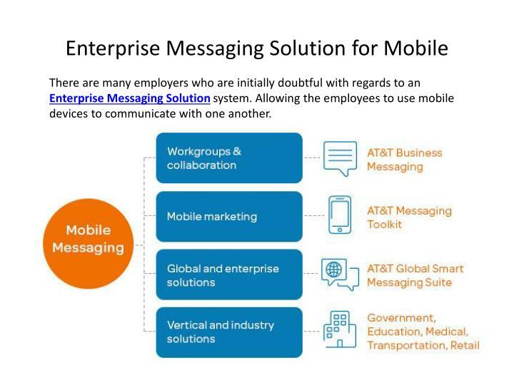 Enterprise messaging solution for mobile