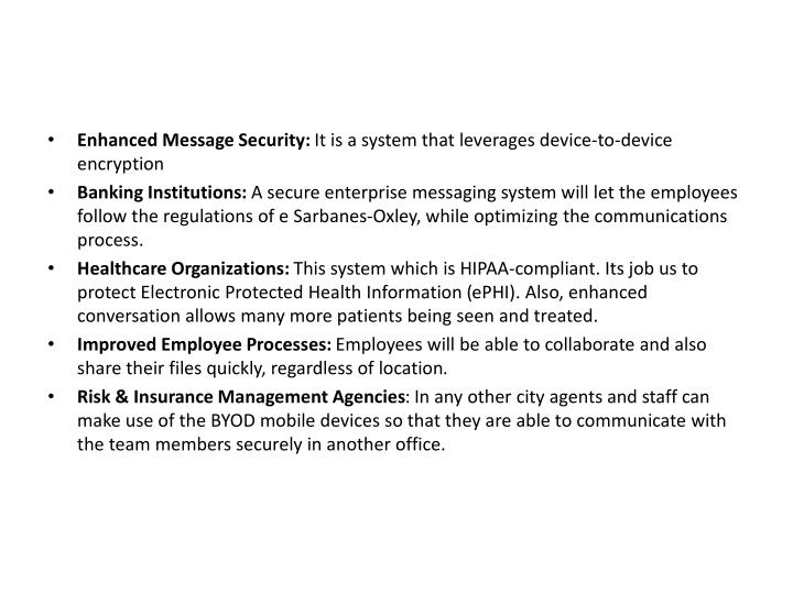 Enhanced Message Security: