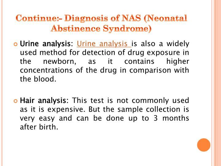 Continue:- Diagnosis