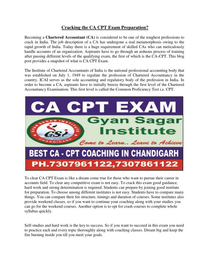 Cracking the CA CPT Exam Preparation?