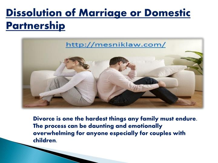 Dissolution of Marriage or Domestic Partnership