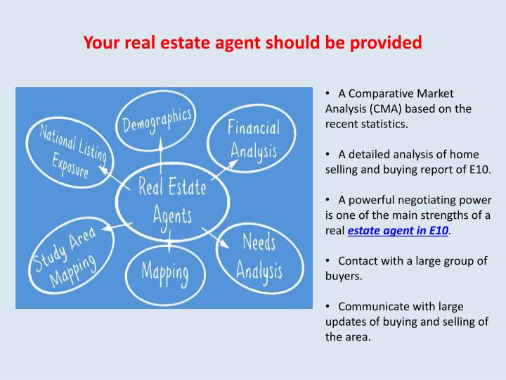 Your real estate agent should be provided